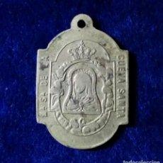 Antigüedades: PRECIOSA MEDALLA VIRGEN DE LA CUEVA SANTA CASTELLON S.XIX. Lote 170486624