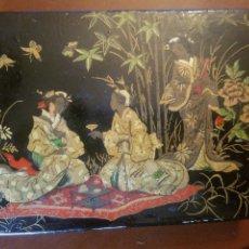 Antigüedades: ANTIGUA CAJA CHINA LACADA. Lote 170490573