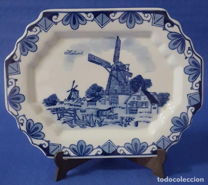 CARAMICA HOLANDESA BANDEJA DECORADA (Antigüedades - Porcelana y Cerámica - Holandesa - Delft)