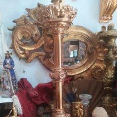 Antigüedades: PAREJA CANDELABROS EN BRONCE ANTIGUOS . Lote 170498416