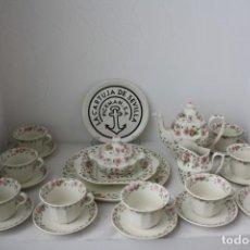 Antigüedades: JUEGO CAFE 23 PIEZAS LA CARTUJA PICKMAN FLORES . SIN USAR. Lote 170501208
