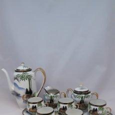 Antigüedades: JUEGO DE CAFE TE PORCELANA KUTANI CHINA JAPAN CÁSCARA DE HUEVO. Lote 170513752