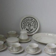 Antigüedades: JUEGO CAFE MEDIANA 15 PIEZAS 6 SERVICIOS LA CARTUJA PICKMAN . SIN USAR. Lote 170514652