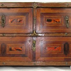 Antigüedades: BARGUEÑO SIGLO XVII TRES CAJONES. Lote 170516668