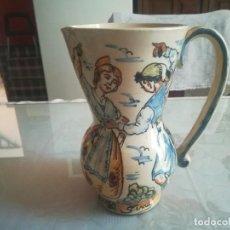Antigüedades: ANTIGUA JARRA VALENCIANA PINTADA A MANO MIREN FOTOS . Lote 170521784