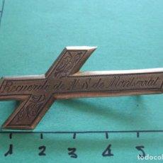 Antigüedades: BROCHE RECUERDO DE N.S. DE MONTSERRAT BURILADA A MANO.. Lote 170522928