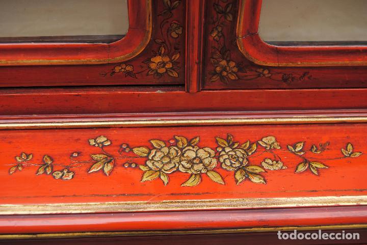 Antigüedades: Antigua vitrina oriental - Foto 6 - 170523364