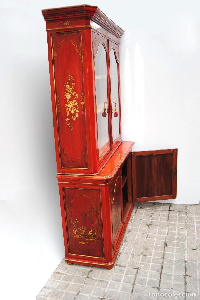 Antigüedades: Antigua vitrina oriental - Foto 36 - 170523364