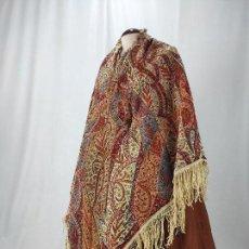 Antigüedades: ANTIGUO MANTÓN DE MERINO ESTAMPADO. Lote 170527432