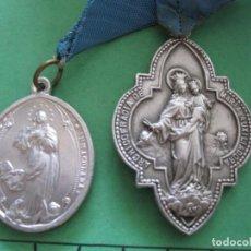 Antigüedades: ANTIGUAS MEDALLAS CON SUS CINTAS DE ORIGEN. Lote 170528032