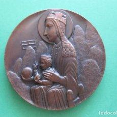 Antigüedades: MEDALLA CONMEMORATIVA VIRGEN DE MONTSERRAT REALIZADA EN COBRE. Lote 170528884