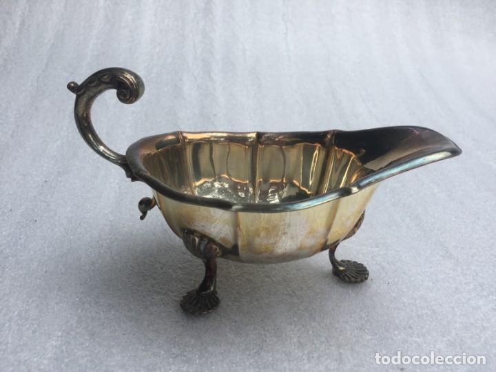 ANTIGUA SALSERA BAÑADA EN PLATA (Antigüedades - Platería - Bañado en Plata Antiguo)