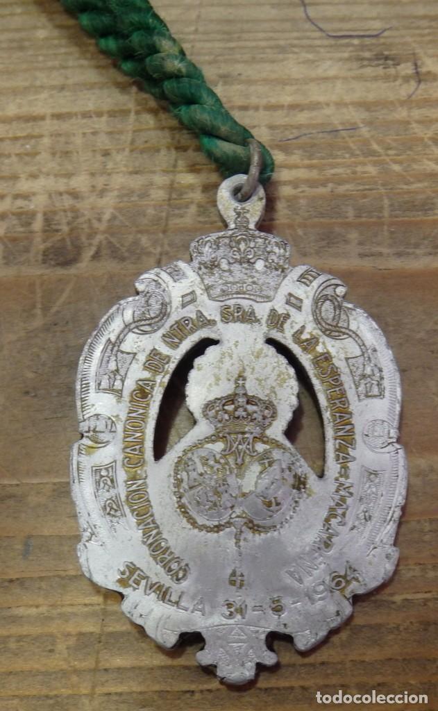 Antigüedades: SEMANA SANTA SEVILLA, ANTIGUA MEDALLA CORONACION DE LA ESPERANZA MACARENA - Foto 2 - 170547732