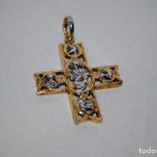 Antigüedades: CRUZ PLATA DORADA . Lote 170556644
