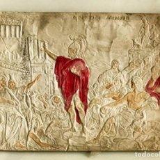 Antigüedades: CUADRO EN RESINA CON RELIEVE ESCENA GRIEGA. Lote 170574600