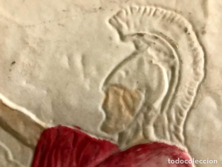 Antigüedades: CUADRO EN RESINA CON RELIEVE ESCENA GRIEGA - Foto 3 - 170574600