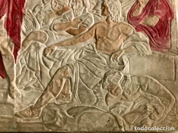 Antigüedades: CUADRO EN RESINA CON RELIEVE ESCENA GRIEGA - Foto 6 - 170574600