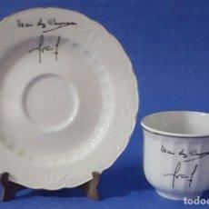 Antigüedades: CERÁMICA JUEGO DE CAFÉ SANTA CLARA MARI LUZ COIMBRAS. Lote 170576810