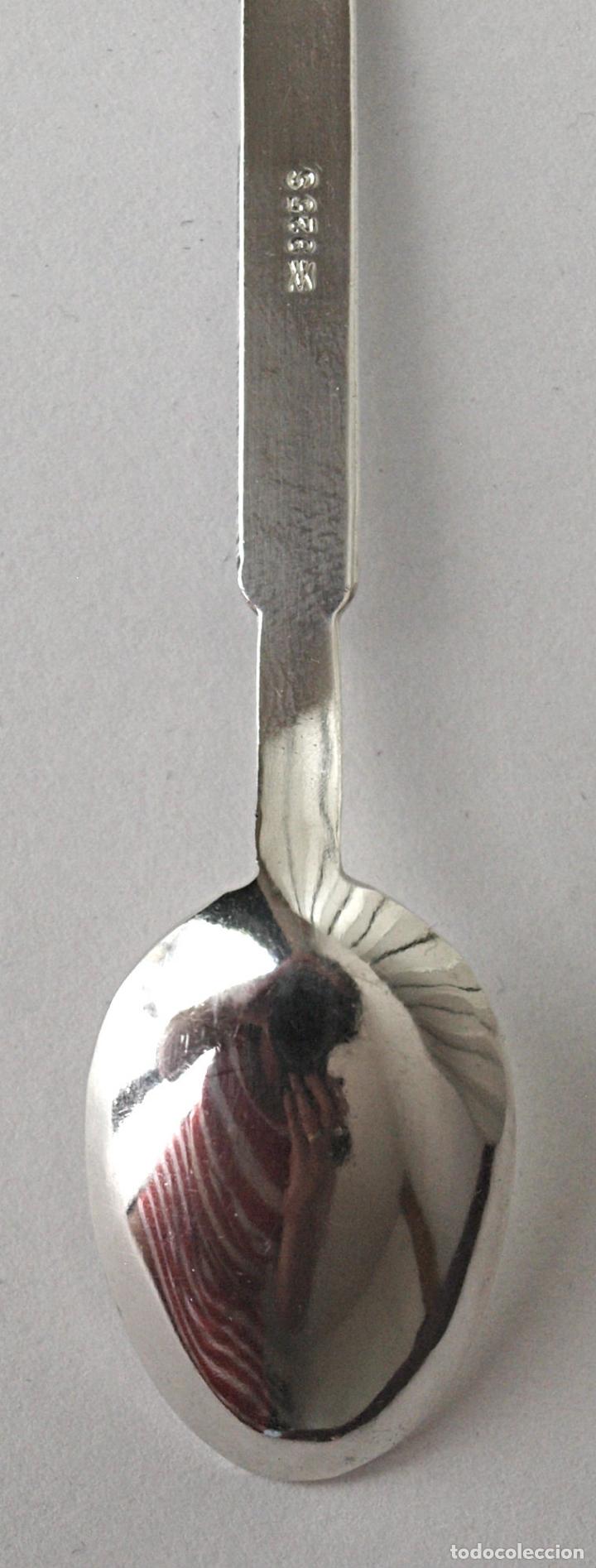 Antigüedades: CUCHARA CUCHARILLA OSLO DE PLATA DE LEY 925 CONTRASTADA. 9,7 GRS. 10 CM LARGO VER FOTOS Y DESCRIPCIO - Foto 5 - 170582020