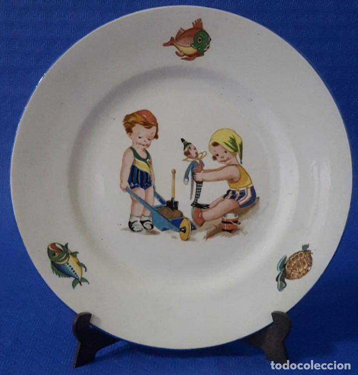 CERÁMICA PICKMAN CARTUJA PLATO DECORADO (Antigüedades - Porcelanas y Cerámicas - La Cartuja Pickman)
