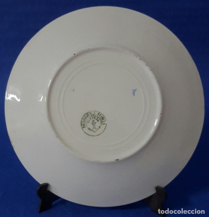 Antigüedades: Cerámica Pickman Cartuja plato decorado - Foto 2 - 170595300