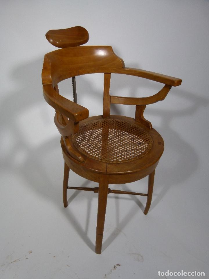 SILLA DE BARBERO SIGLO XIX (Antigüedades - Muebles Antiguos - Sillas Antiguas)