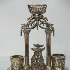 Antigüedades: PRECIOSO CONVOY LUIS XVI, FRANCIA - ACEITERA, VINAGRERA - BAÑO DE PLATA - FINALES S. XVIII. Lote 170690890