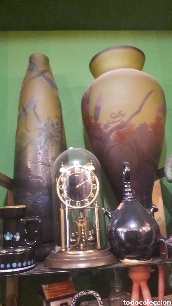JARRONES EMILIO GALLE FIRMADOS 80 CTMOS ALTURA (Antigüedades - Cristal y Vidrio - Otros)