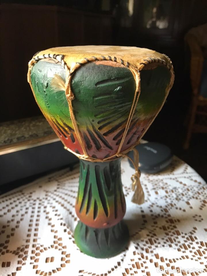 Antigüedades: Djembe Africano y pintado a mano - Foto 3 - 170811344
