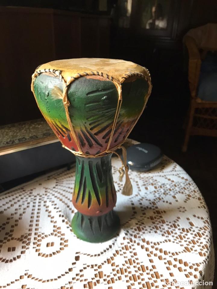 Antigüedades: Djembe Africano y pintado a mano - Foto 4 - 170811344