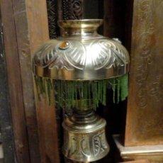 Antigüedades: LAMPARA QUINQUE ANTIGUO DE SOBREMESA, ELECTRIFICADA . Lote 170857910