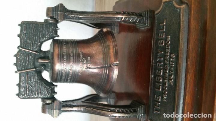 Antigüedades: EXPLENDIDA Y ANTIGUA CAMPAN SELADATHE LIBERTY BELL PROCLAIMED FREEDOM JULY-1776HECHA DE COBRE - Foto 10 - 170880565