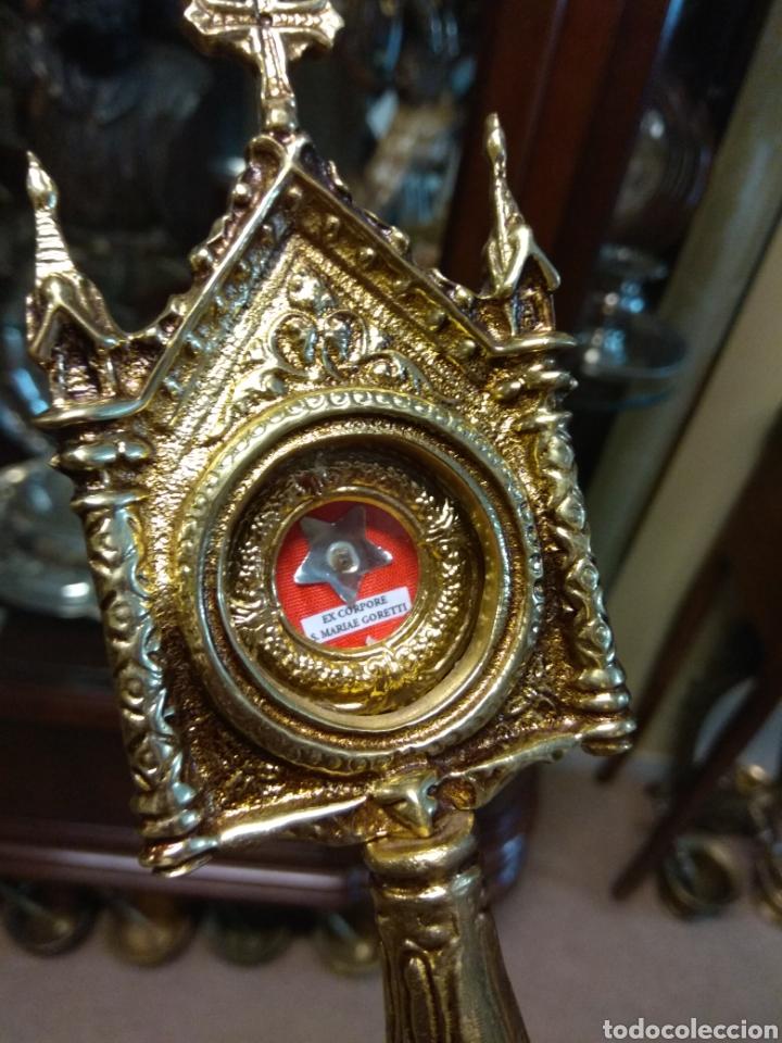 Antigüedades: Custodia Relicario de Santa Maria Goretti - Ex Corpore S.Marie Goretti - - Foto 8 - 170885095
