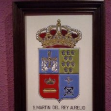 Antigüedades: 8-AZULEJO ESMALTADO CONCEJO DE S.MARTIN DEL REY AURELIO ASTURIAS. Lote 170886640
