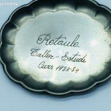 Antigüedades: PLATITO PLATA LEY. Lote 170888834