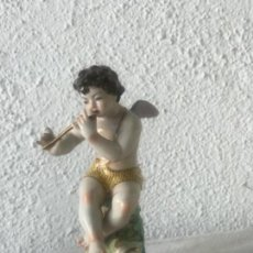Antigüedades: QUERUBÍN DE PORCELANA , MEISSEN? PRINCIPIOS DEL SIGLO XX. SELLO. . Lote 170907535
