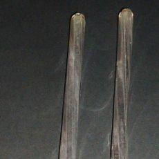 Antigüedades: REPUESTOS LAMPARAS ANTIGUAS PASANTE CRISTAL MED 20 CTM 2 UDS. Lote 170912510
