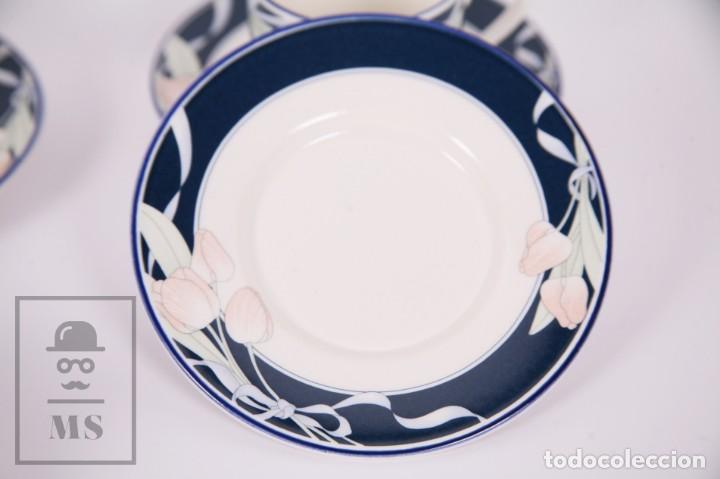 Antigüedades: Juego de Café de Porcelana Arnolfo di Cambio - Decoración de Tulipanes - 6 Tazas y 6 Platillos - Foto 4 - 170917765