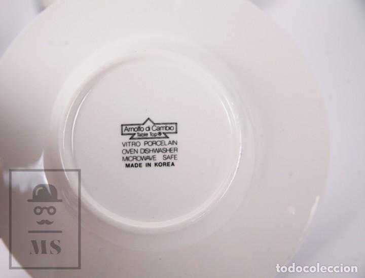 Antigüedades: Juego de Café de Porcelana Arnolfo di Cambio - Decoración de Tulipanes - 6 Tazas y 6 Platillos - Foto 5 - 170917765