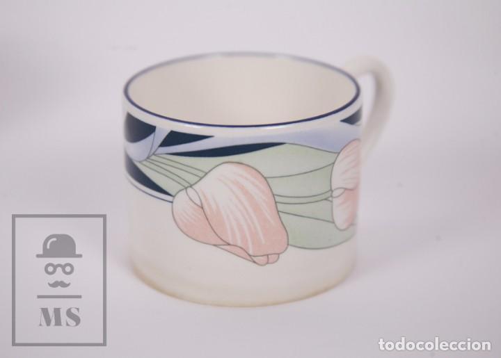 Antigüedades: Juego de Café de Porcelana Arnolfo di Cambio - Decoración de Tulipanes - 6 Tazas y 6 Platillos - Foto 8 - 170917765