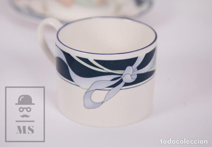 Antigüedades: Juego de Café de Porcelana Arnolfo di Cambio - Decoración de Tulipanes - 6 Tazas y 6 Platillos - Foto 10 - 170917765