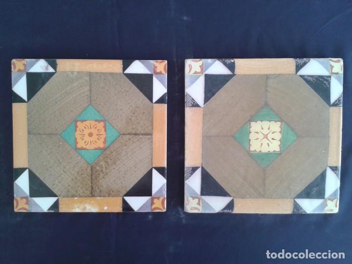 AZ-64AN AZULEJOS ANTIGUOS MANUAL Y PRENSA (Antigüedades - Porcelanas y Cerámicas - Azulejos)