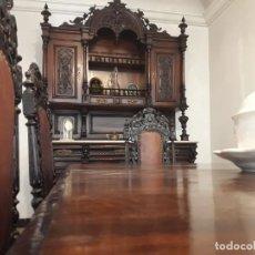 Antigüedades: APARADOR DE ESTILO ISABELINO DE CAOBA TALLADA DE 1850-1860.. Lote 170932650