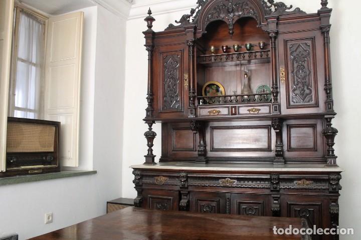 Antigüedades: APARADOR de estilo ISABELINO DE CAOBA TALLADA DE 1850-1860. - Foto 4 - 170932650