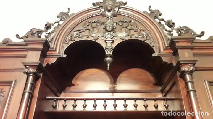Antigüedades: APARADOR de estilo ISABELINO DE CAOBA TALLADA DE 1850-1860. - Foto 10 - 170932650