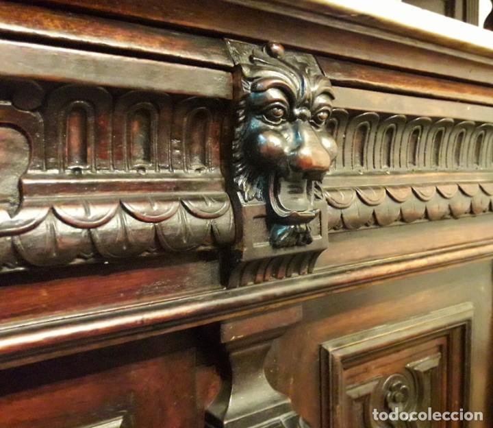 Antigüedades: APARADOR de estilo ISABELINO DE CAOBA TALLADA DE 1850-1860. - Foto 13 - 170932650