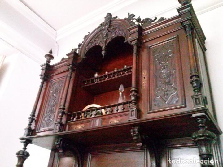 Antigüedades: APARADOR de estilo ISABELINO DE CAOBA TALLADA DE 1850-1860. - Foto 16 - 170932650