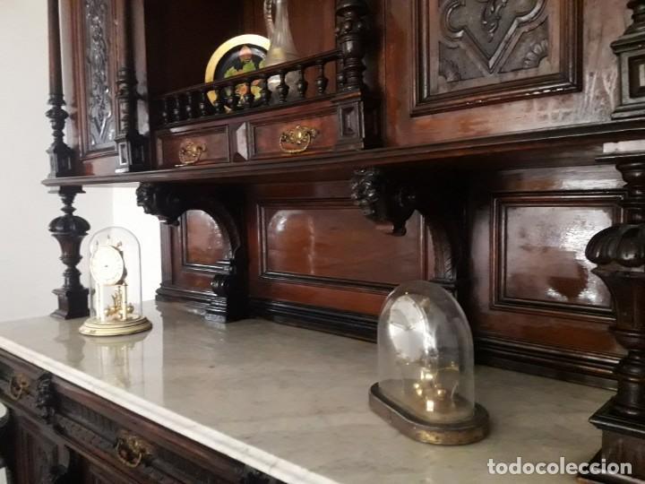 Antigüedades: APARADOR de estilo ISABELINO DE CAOBA TALLADA DE 1850-1860. - Foto 18 - 170932650