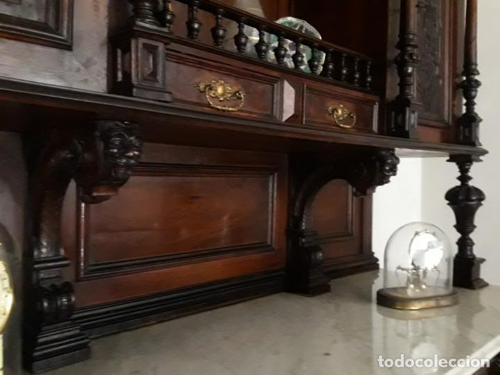 Antigüedades: APARADOR de estilo ISABELINO DE CAOBA TALLADA DE 1850-1860. - Foto 19 - 170932650