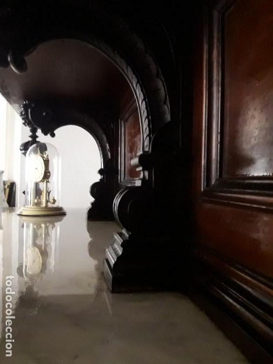 Antigüedades: APARADOR de estilo ISABELINO DE CAOBA TALLADA DE 1850-1860. - Foto 20 - 170932650